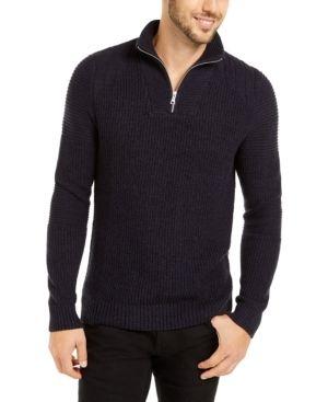 Inc Men s Quarter Zip Sweater   large