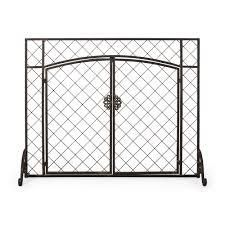 Springer Contemporary Iron Fireplace Screen Replacement