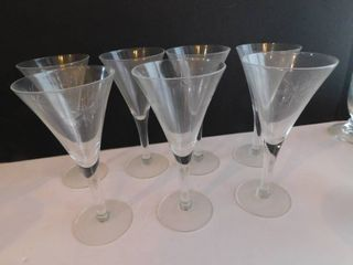 Wine Champagne Glasses  7 ea