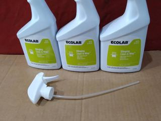lot of 3 with 1 Sprayer   Ecolab Clinging lime A Way