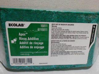 Ecolab 16811 6116811 Apex Rinse Additive 2 5lbs
