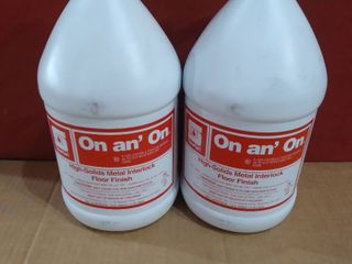 lot of 2   One Gallon On an  On High Solids Interlock Floor Cleaner