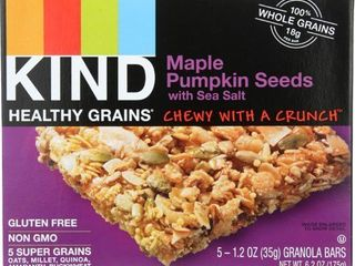 Kind Maple Pumpkin Seeds GRANOlA BARS exp 1 22 2021