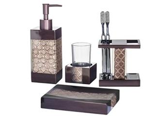 Dahlia 4 piece Bathroom Accessories Set decorative Bath Accessory Kit With Soap