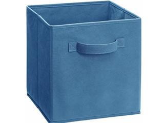 Set of 3   Dark Blue Denim Cloth Cube Inserts for Closet Organizer   12