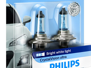 Philips  H7 CVB2   Bright White Crystal Vision Ultra   Replacement Headlights