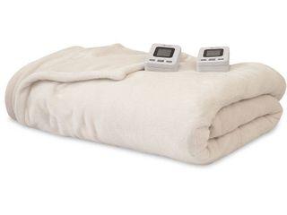SensorPEDIC Electric Warming Blanket with SensorSafe   Digital Controller   Twin Ivory