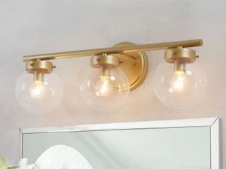 Modern 3 lights Bathroom Vanity lighting Golden Wall Sconce Power Room lights   Retail 159 99