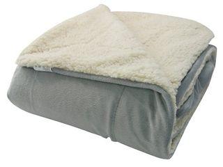 Micromink Sherpa 60 inch Throw Blanket