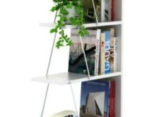 Discount World Teemo Bookcase  Chrome White  No Hardware