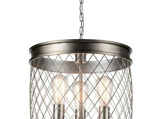The Gray Barn Stable View 3 light Cage Chandelier with Champagne Finish