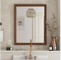 Dorel living Tribecca 30 Inch Bathroom Mirror  Chocolate Spice