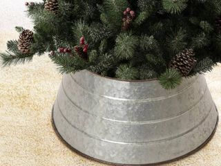 Galvanized Glitzhome Christmas 22 inch Metal Tree Collar Retail  76 98