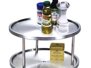 Cook N Home Stainless Steel 2 tier lazy Susan