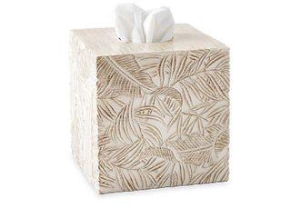 Destinations Palm Wood Bath Accessories  Tissue Box Cover