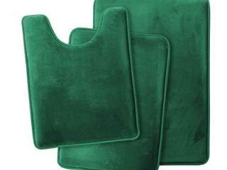Non Slip Memory Foam Bath Rug   3 Pack Set   Small  large  Contour rug