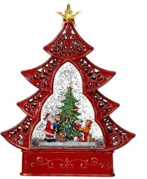 11 5 Inch lED Battery Operated Santa Kids Tree Water Globe With Timer