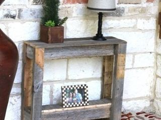 Rustic Side Table  Natural Wood  Retail 76 48