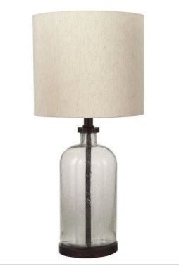 Bandile Modern Farmhouse Glass Table lamp
