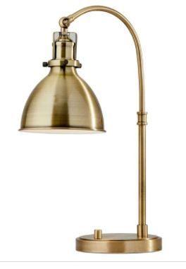 Carson Carrington Pardixgard Antique Brass Desk lamp