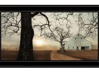 Millersburg Sunrise by lori Deiter  Ready to Hang Framed Print  Black Frame