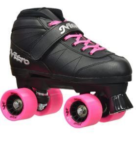 Epic Super Nitro Black Quad Speed Roller Skates  Size 8