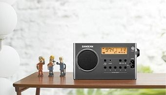 Sangean AM FM Stereo Digital Tuning Portable Radio  Gray Black  Retail 83 99