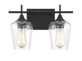 2 light Octave Matte Black Vanity lighting  Retail 110 00