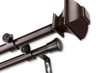 InStyleDesign Eugene Adjustable Double Curtain Rod  Retail 115 99