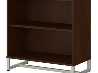 Method 2 Shelf Bookcase Cabinet in Cocoa from Office by Kathy Ireland  Retail 201 99