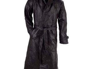 Giovanni Navarre Italian Stone Design Genuine leather Trench Coat XXl  Retail 86 49