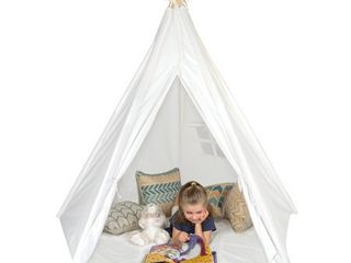 Giant Canvas Teepee Customizable Canvas Fabric in White Color with Carry Case  Retail 96 99