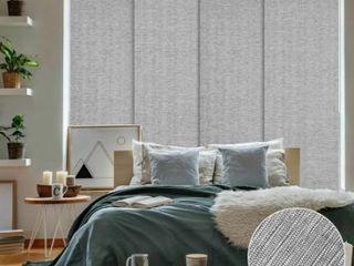 GoDear Design Metallic luster Blackout Natural Woven Adjustable Sliding Panel  Retail 164 99