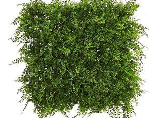 lush Mediterranean Artificial Fern Wall Panel UV Resistant  Indoor Outdoor   Set of 3