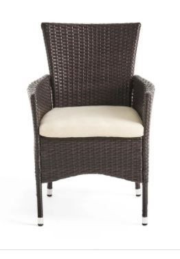 Tustin Outdoor Acacia Wicker Dining Chair  Set of 2 by Christopher Knight Home
