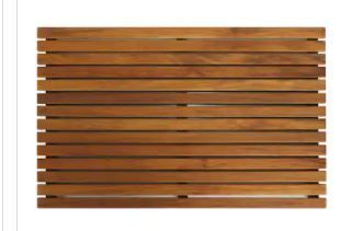 Bare Decor Cosi String Spa Shower Mat in Solid Teak Wood Oiled Finish  31 5 by 20 Inch