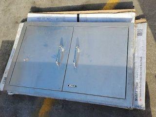30in Stainless Steel Double Door With Towel Rack