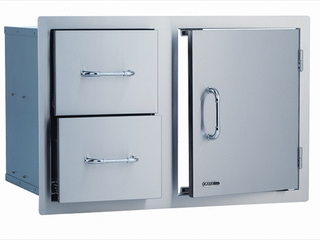 Bull Outdoor Products 25876 Stainless Steel Door Drawer Combo