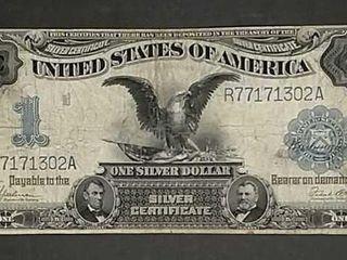 1899  1 Silver Certificate  Black Eagle  Mule VG