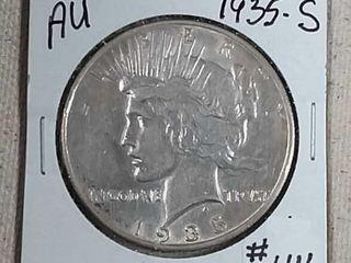 1935 S Peace Dollar AU