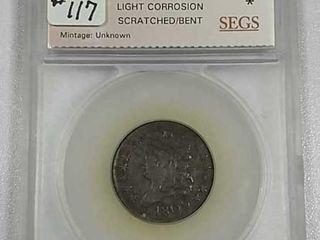 1809 6 Half Cent SEGS VF 30 details