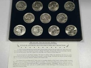 Susan B  Anthony Eleven Piece Dollar Collection