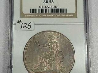 1876 S Trade Dollar NGC AU 58