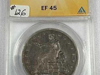 1878 S Trade Dollar ANACS EF 45