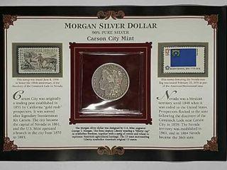 1890 CC Morgan Dollar XF details Cleaned