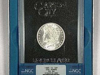 1885 CC Morgan Dollar GSA NGC MS 64