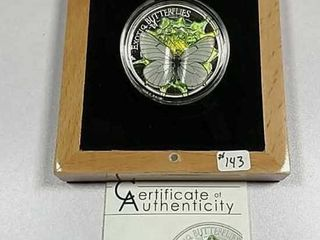 2017 Mongolia 500 Togrog 3D Exotic Butterfly