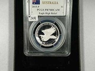 2015 P  1 Australian Wedge tailed Eagle PCGS