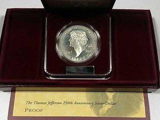 1993 S Thomas Jefferson Comm  Proof Silver Dollar