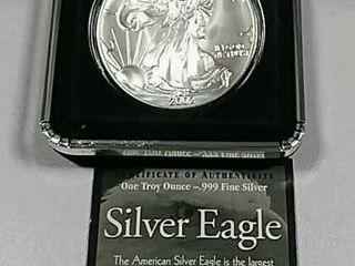 2002  1 Silver Eagle Unc